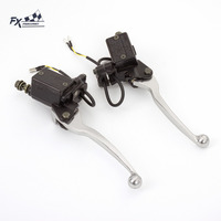 Universal 7 8 22mm Motorcycle Hydraulic Brake Clutch Lever Master Cylinder Reservoir Levers For 125CC 500CC