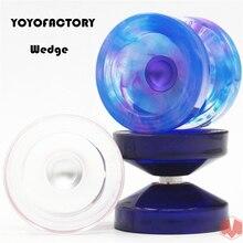 2018 New arrive YYF PC version WEDGE YOYO Rubber yoyo Professional 1A POM yo-yo