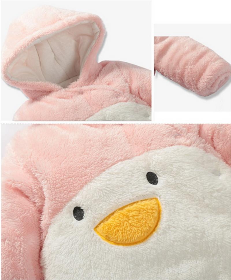 8c9e64575 29KEIZ Cute Velvet Baby Rompers Penguin Panda Covered Button Girls ...