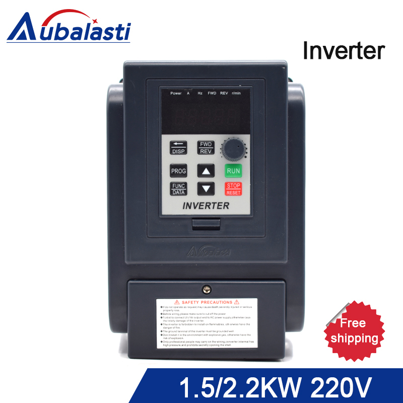 Inverter 1.5KW 2.2KW 220V Frequency Converter 1500W 2200W 3HP 220V 8A 12A AT4 3P 220V utput 400 Hz use for CNC machine