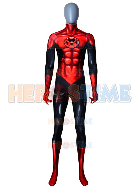 Red Lantern Costume 3D Printed Blue Lantern Superhero Cosplay Costume Halloween Party Cosplay Bodysuit No Eyemask