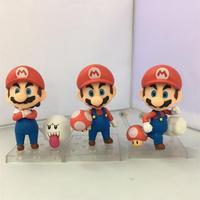 Nendoroid Super Mario Brothers Mario Luigi PVC Фигурки Коллекционная модель Игрушечные лошадки Куклы 3 шт./компл. 10 см