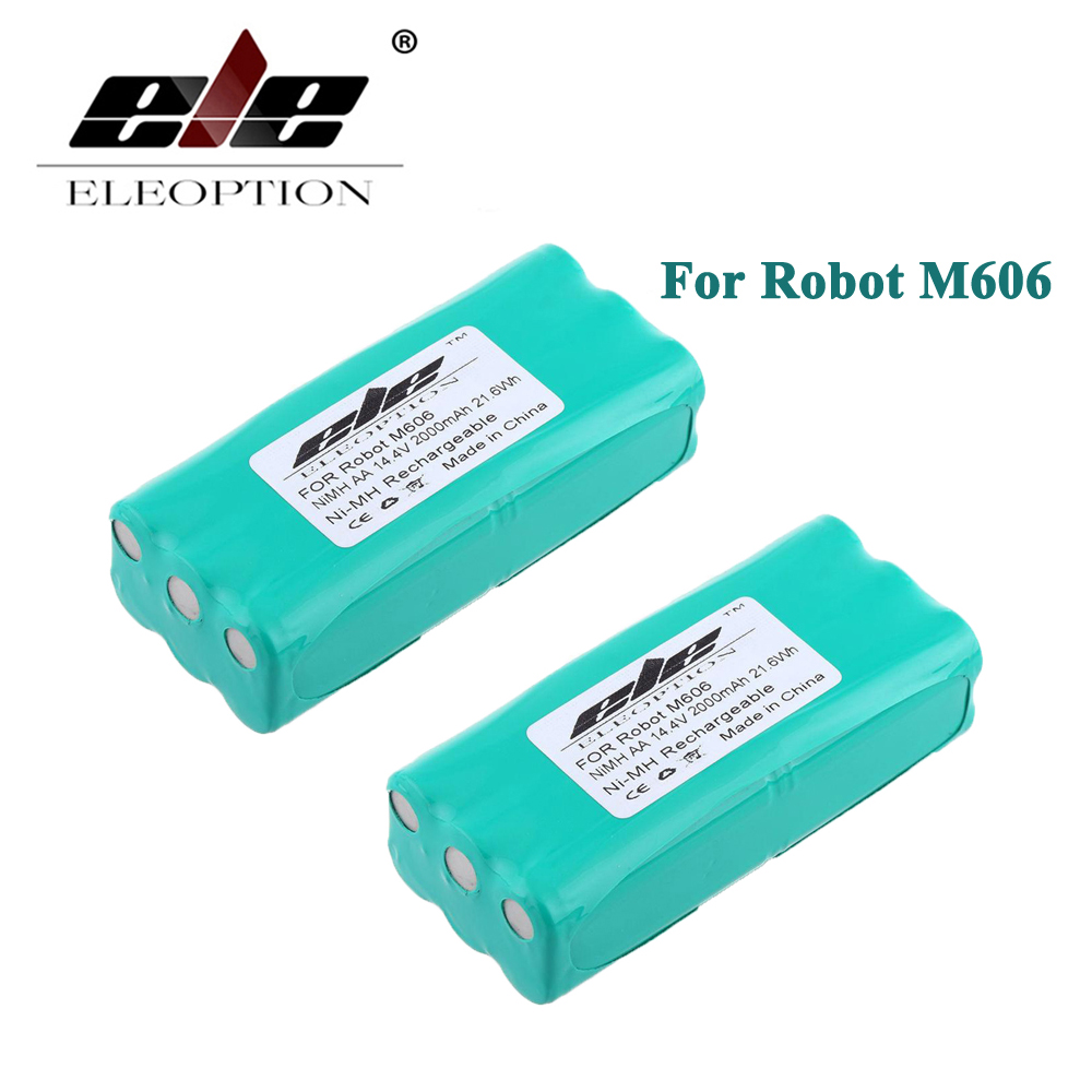 2 PCS Eleoption 14 4 Volt 14 4V 2000mAh 2 0Ah Ni MH High Quality Replacement