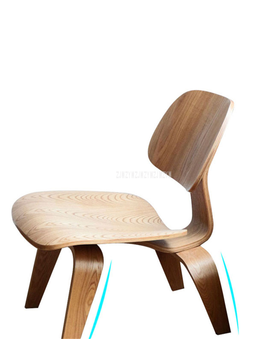 Us 69 42 11 Off Single Living Room Lounge Chair With Wood 4 Legs Natural Full Wood Home Furniture Wooden Small Simple Low Chair With Backrest In