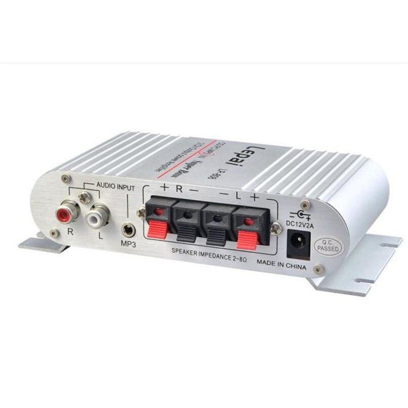 XPFHigh-Calidad de Sonido Mini Hi-Fi Audio Estéreo Amplificador 12 V 20 W X2 RMS
