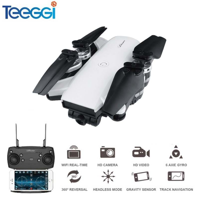 Teeggi YH-19HW Selfie Drone With Wide Angle HD Camera WiFi FPV RC Quadcopter Helicopter VS Visuo XS809HW JJRC H37 Mini Dron Toys