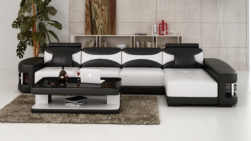 Small Size Leather Sofa For Apartment 0413 F3001C
