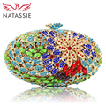 NATASSIE Women Evening Bags Ladies Crystal Clutch Bag Female Party Clutch Weeding Purses
