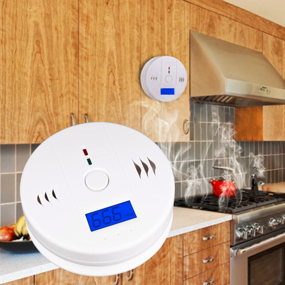 LESHP 85DB Digital LCD Backlight CO Carbon Monoxide Alarm Detector Tester CO Gas Sensor Alarm 85dB For Home Security