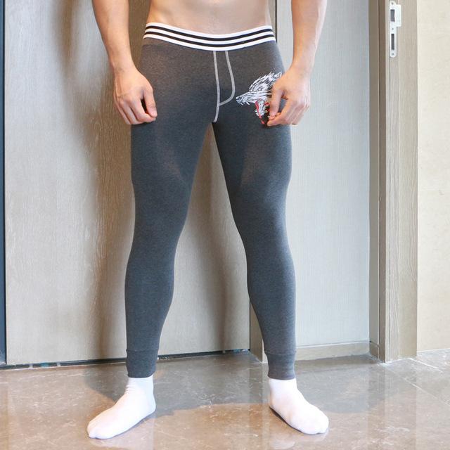 2016 invierno sexy hombres Warm cotton Long Johns ropa interior térmica cómodos de moda de Alta calidad