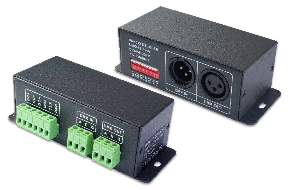 LT-DMX-1809 DMX Decoder;DMX-SPI signal convertor, support TM1804/TM1809/WS2811/UCS1903 etc цены онлайн
