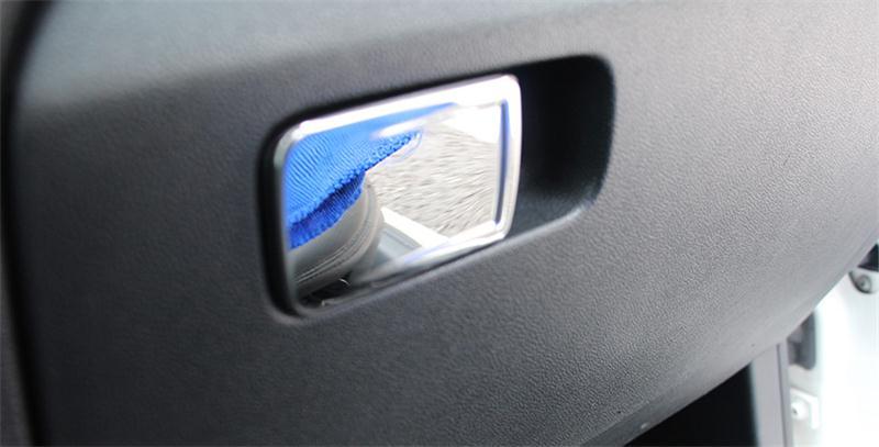 Автомобильный Стайлинг, перчаточный ящик, ручка, декоративная крышка, наклейка, Накладка для Volkswagen vw POLO 2011-, аксессуары для салона автомобиля - Название цвета: Bright Silver
