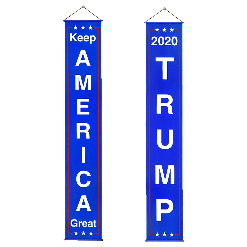 Donald <font><b>Trump</b></font> Flag Banner Keep America Great Flag Porch Sign for President <font><b>2020</b></font> Hanging Garland America Party Decoration Dropship image