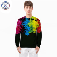 Mr 1991INC Miss GO 2018 New Spring Men Personality Abstract 3D Euramerican Tide Brand Clothing Sweatshirt