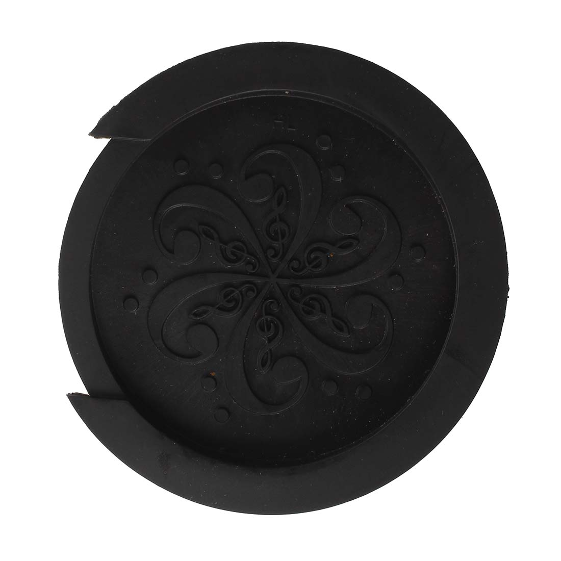 12pcs (Acoustic Guitar Soundhole Cover Screeching Halt Rubber--Black