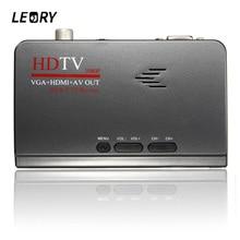 LEORY DVB-T2 TV Box HDMI 1080 P VGA AV CVBS Tuner Récepteur Avec Télécommande HDMI DVB-T2 Set-top boîte
