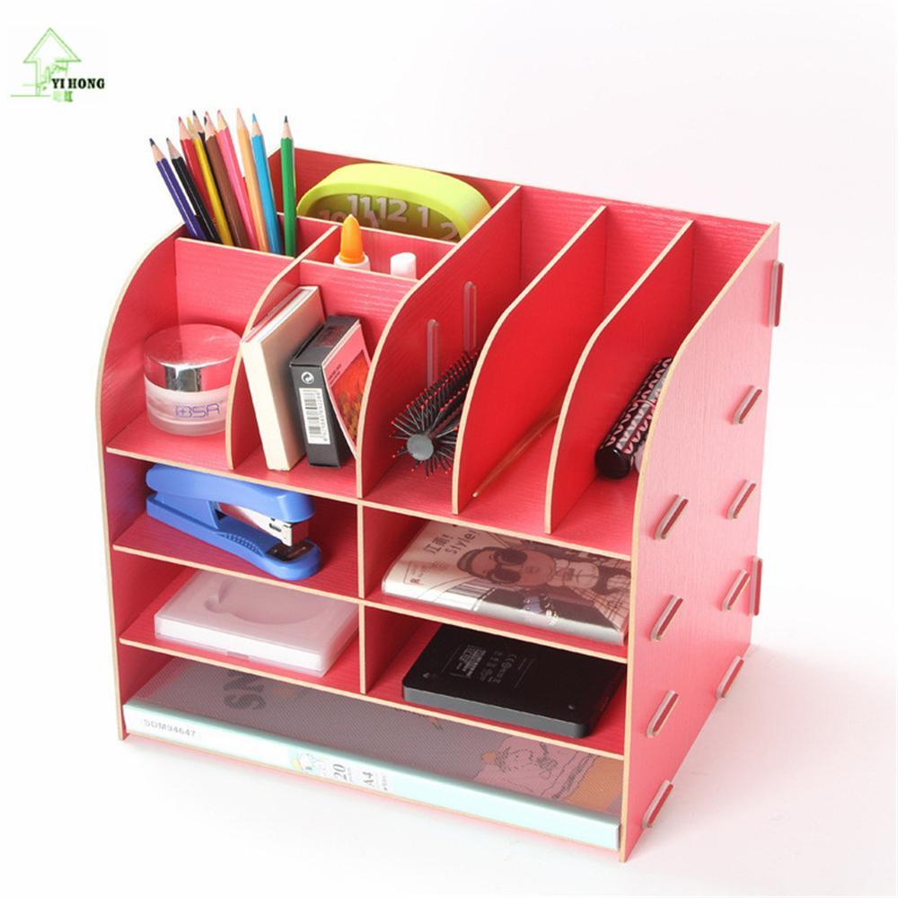 YIHONG bricolage en bois stockage Rack parfum écrin cosmétique étui maquillage organisateur papeterie boîtes de rangement A1039c