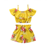 Summer Girls Clothes Sets Baby girls Sling T-shirt And Shorts Suit Tracksuit For Kids Clothes Fashion Children Clothing Set (6)_副本