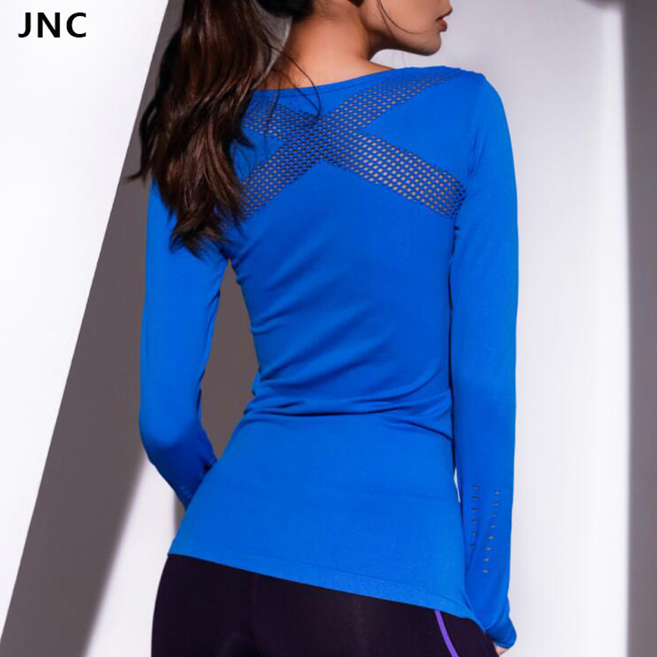 JNC Women Yoga Top Women Yoga Shirts Long Sleeve Gym