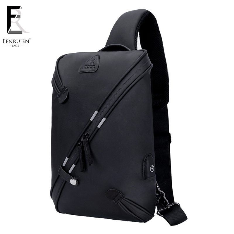FRN Crossbody Bags for Men Messenger Chest Bag Pack Casual Bag Waterproof Single Shoulder Strap Pack Male Bag 2018 New Fashion lapoe 2018 new vintage genuine leather crossbody bags for men messenger chest bag pack casual bag single shoulder strap pack