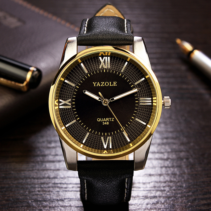 Gold Wrist Watch Men 2017 Top Brand Luxury Famous Male Clock Quartz Watch Golden Wristwatch for Quartz-watch Relogio Masculino bailishi watch men watches top brand luxury famous wristwatch male clock golden quartz wrist watch calendar relogio masculino