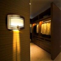 Motion Sensor LED Wall Lamp Night Light Battery Powered Sensor LED Wall Lamp Path Laundry Stair Sensor Wall Lamp LED Light