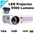 Led 96 1280*800 lcd led TV проектор для домашнего кинотеатра кино кино Проекторы 5500 Люмен Поддержка Портативных ПК USB видео proyector