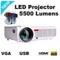Led 96 1280*800 lcd led TV proyector para cine en casa película de cine Proyectores de 5500 Lúmenes Soporte PC Laptop USB de vídeo proyector