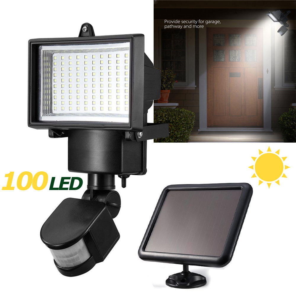 Free Shipping 100Leds solar powered garden Lamp Outdoor LED Solar Powered Body Motion Sensor Lamp Floodlights Garden in garden мармелад 10