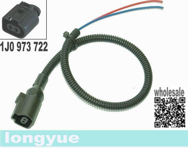 "Longyue 2 pcs 2 way / pin conctor plug kuncir 1J0 973 722 1J0973722 untuk VW AUDI 12 """