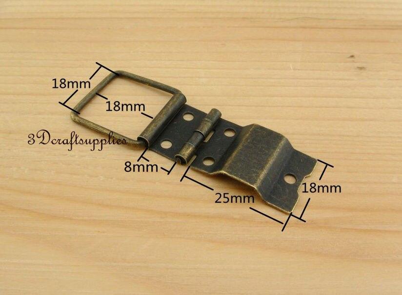 Металлические петли деревянная коробка сигар ювелирных изделий Анти Латунь 18 мм 20 шт. AT22