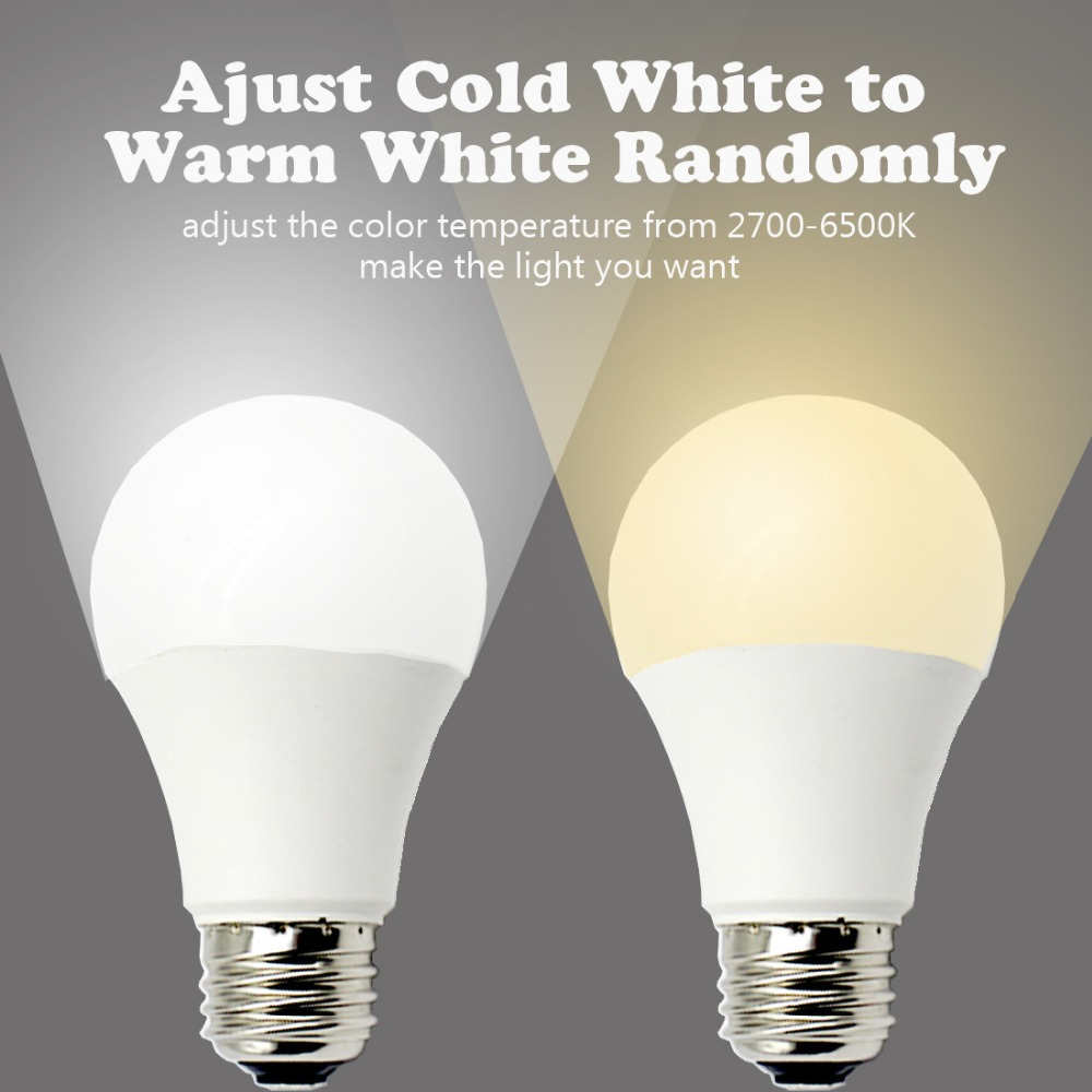 OPEN 11W High Power Alexa Smart Home WiFi Bulbs Warm And Cold Two-color Adjustable Voice Automatic Control Lighting