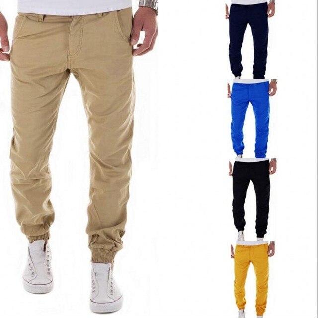 Nueva Marca de 2016 Hombres De Moda De Invierno Espesar Forro Polar Cortavientos Pantalones Largos Rectos Casuales Holgados Bolsillo Del Pantalón de Carga