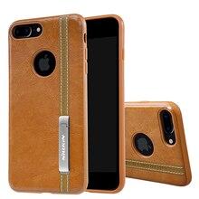 NILLKIN для iPhone 7 Plus из искусственной кожи Винтаж задняя крышка для iPhone 7 Plus 5.5 »телефон Поддержка работы с Магнитный держатель телефона