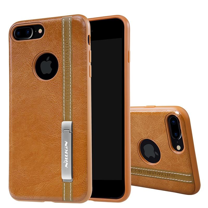 imágenes para Nillkin para el iphone 7 más caja de LA PU de Cuero de La contraportada de La Vendimia para iphone7plus 5.5 ''soporte telefónico trabajar con magnética soporte para teléfono