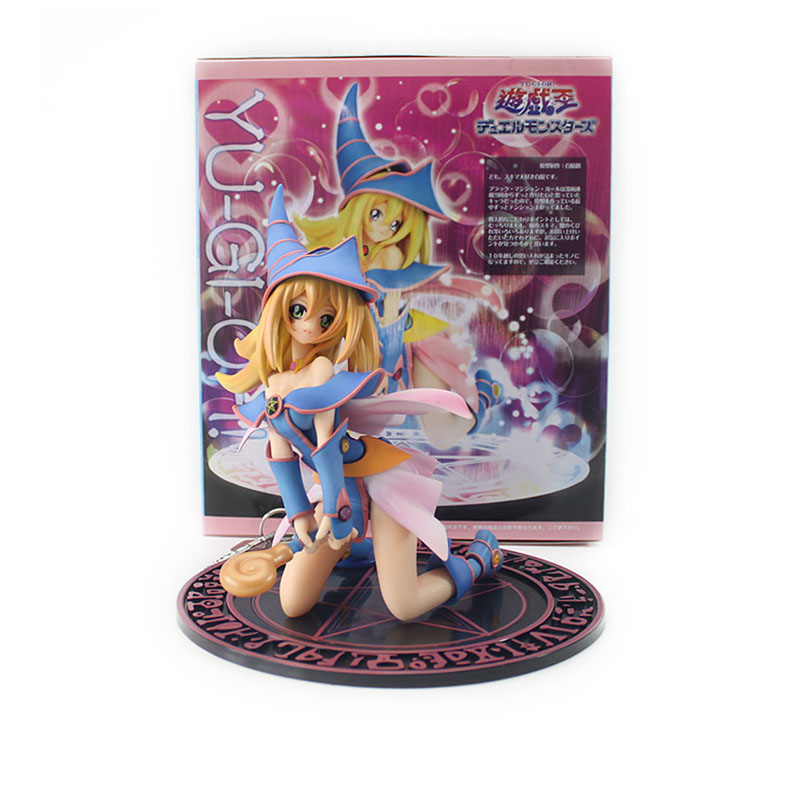 C&F Yu Gi Oh Yu-Gi-Oh! Duel Monster Dark Magician Girl Boxed 20cm PVC Action Figure Toys Collection Model Doll Toy Gift fei yu