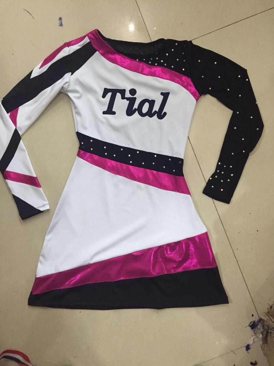 Competion Professional Cheerleader Outfit Hairbow Costume Cheerleader Uniform Custom Made Pick Style