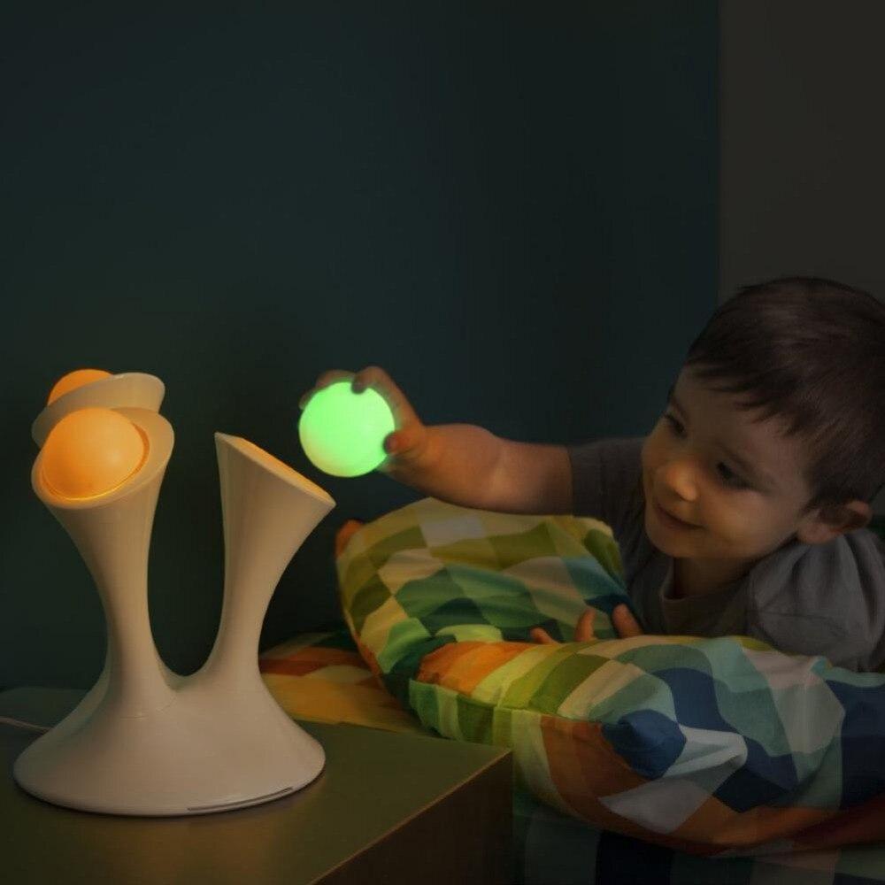 Glowing balls bedside lamp mushroom rainbow LED night light removable children sleeping toy