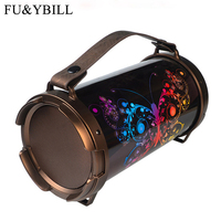 Fu&y Bill 2018 New Ideas Portable Outdoor Portable Sound Support SD Card USB Radio Wireless Bluetooth Bass Box