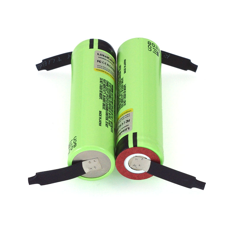 Image 3 - Liitokala Original NCR18650B 3.7 v 3400 mah 18650 Lithium Rechargeable Battery Welding Nickel Sheet batteries wholesale-in Replacement Batteries from Consumer Electronics