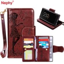 Кошелек сумочка держателя карты Стиль Обложка Роскошный кожаный чехол для Sony Xperia XZ 5.2 дюйма двойной F8332 с Макияж зеркало В виде ракушки Чехол