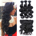 Body Wave Hair With Frontal Raw Indian Remy Hair Body Wave Hair Weaves With Lace Frontal 13*4 Lace Frontal With Hair Bundles