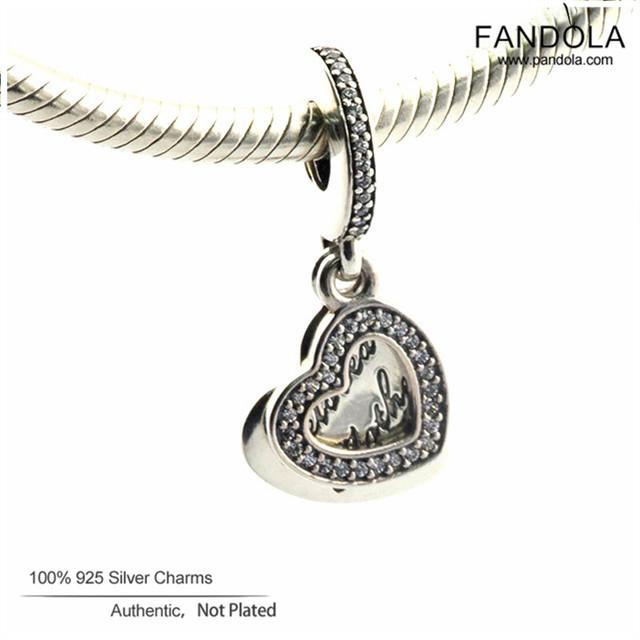 Se encaixa pulseiras de pandora autêntica prata esterlina 925 amada mãe oscila grânulos encantos do coração com clear cz diy fazer jóias