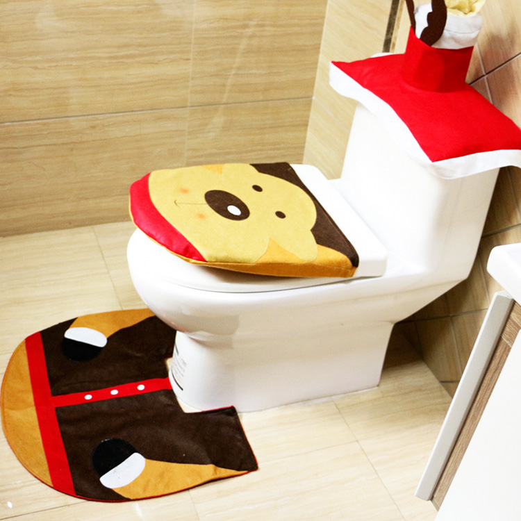 Terrific New Fancy Deer Toilet Seat Cover Rug 3 Piece Bathroom Mat Bralicious Painted Fabric Chair Ideas Braliciousco
