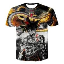 2019 nuevo Dragon Ball Super camiseta de los hombres y las mujeres de moda Casual 3D camiseta de poliéster impreso hombres camiseta de verano camiseta
