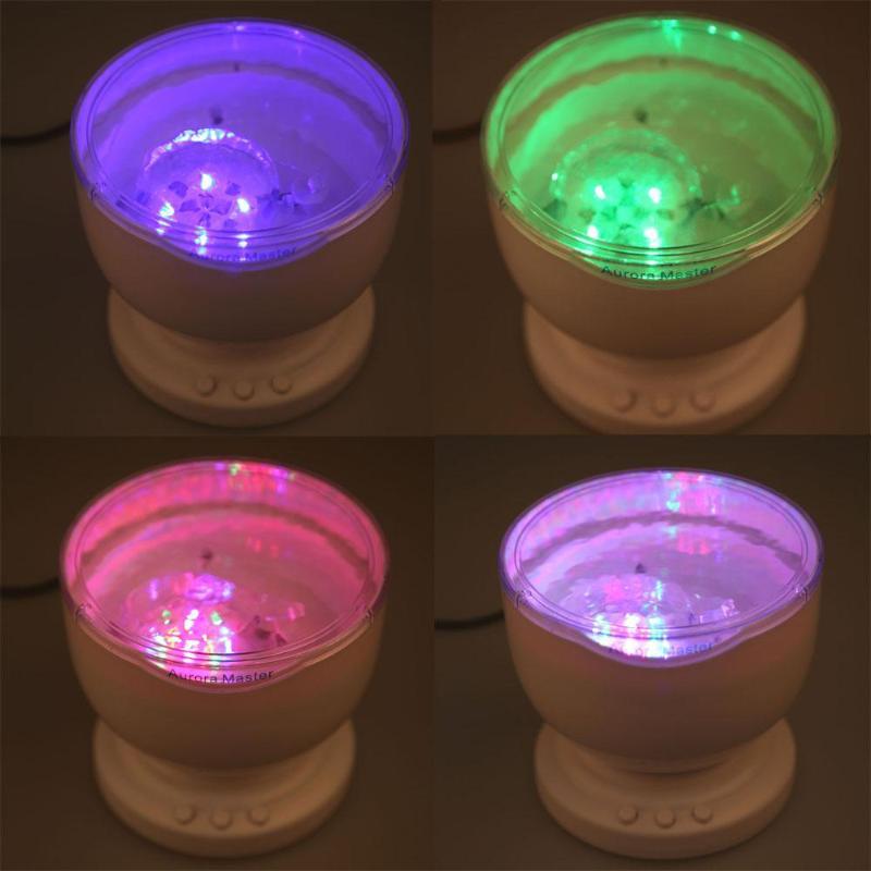 Romantic Aurora Master 7 Colorful LED Light Ocean Wave Projector Speaker