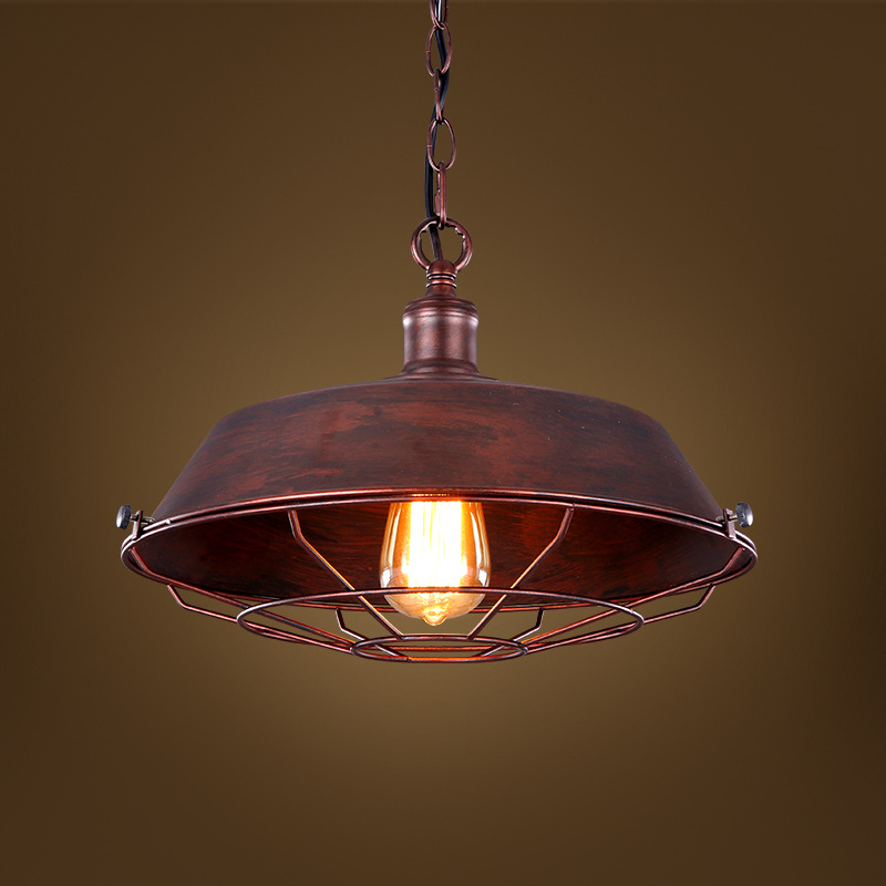 Loft Iron Pendant Light Vintage Industrial Lighting Bar Cafe Bedroom Restaurant Nordic Country Style Iron Hanging Light loft iron pendant light indutrial vintage loft bar cafe restaurant nordic country style birdcage pendant lights hanging lamp