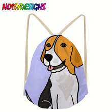 Beagle Dog Backpacks Beagle Shoulder Bag Men Women Students Canvas Drawstring Bags softback School Bagpack mochila Escolar