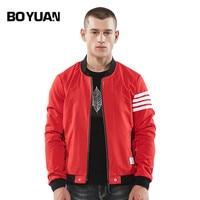 BOYUAN Brand Spring Men S Jackets Fashion Baseball Striped Long Sleeve Male Coats Outerwear New Casual