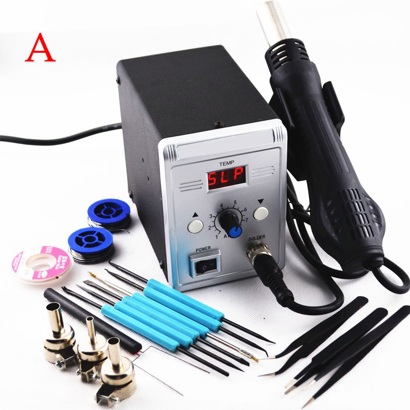MYPOVOS 700W 858D Soldering Station LED Digital Solder Iron Desoldering Station BGA Rework Solder Station Hot Air Gun 220V